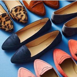 Talbots Francescas Keeper Suede Indigo Blue Flats